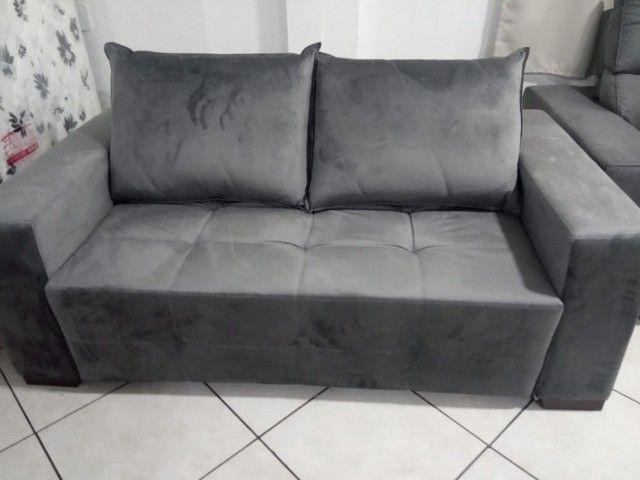 Sofá cama 1,80L tecido suede - Foto 4