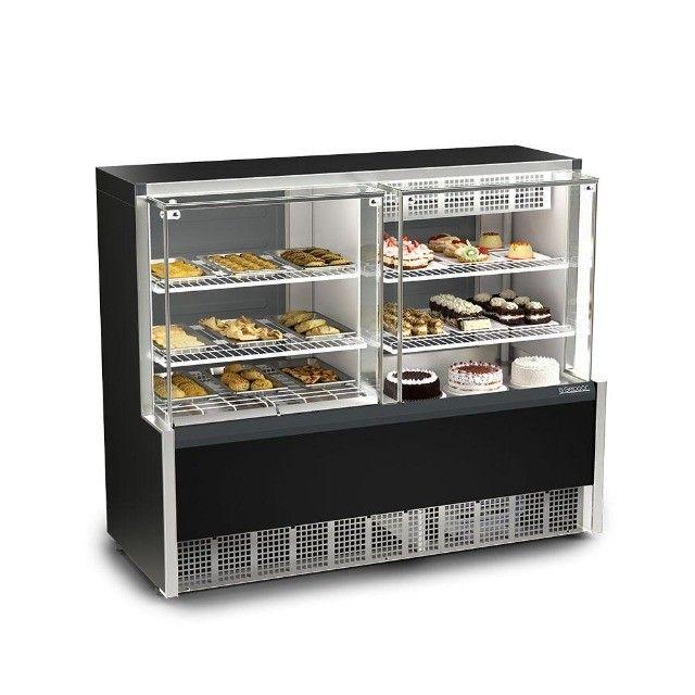 Balcão conjugado - estufa quente + refrigerado para tortas-para lanchonetes - Foto 2