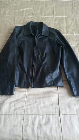 TR0Co Jaqueta de couro legítimo