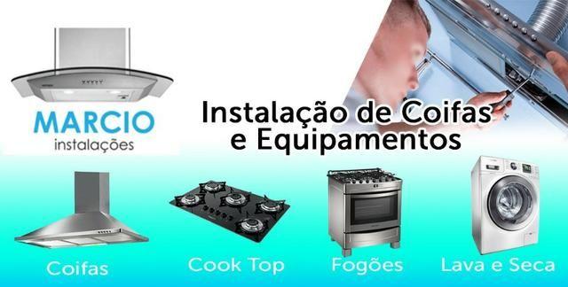Instalação aquecedor coifa cooktop forno rede gas e medidor central de gas