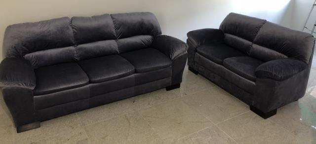 Conjunto de sofá novo 3+2 lugares