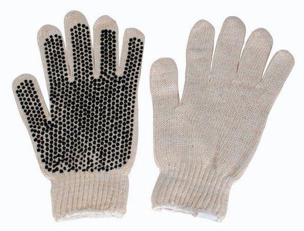 Luva pigmentada preta ou branca (bolinhas na palma) - Foto 2