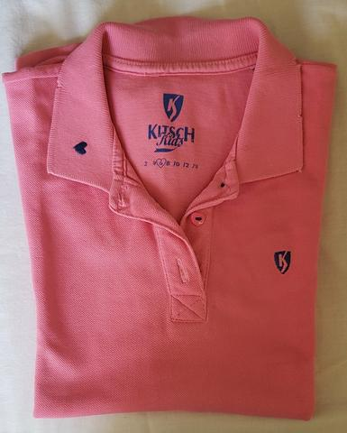 Camisa infantil rosa Kitsch Kids tamanho 6 - Foto 2