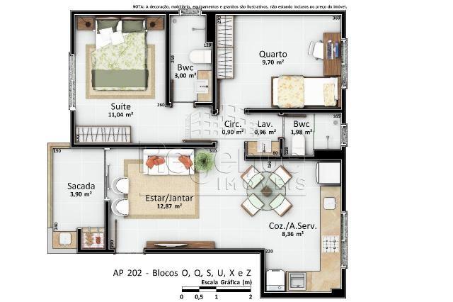 Apartamento à venda com 2 dormitórios em Vargem pequena, Florianópolis cod:76624 - Foto 12