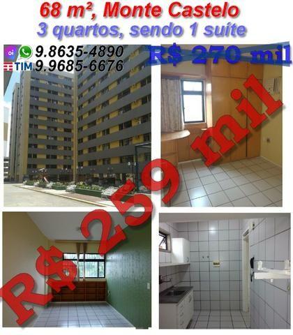 Apartamento no Monte Castelo, 68 m², 3 quartos, 1 vagas, Belvedere Park