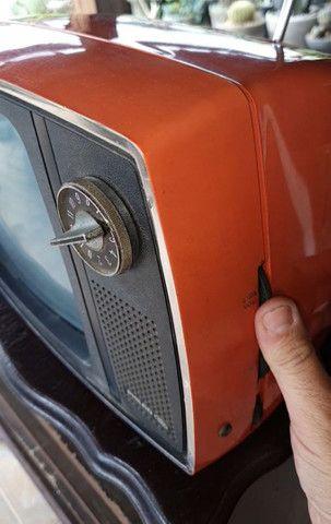Antiga tv Philco Ford década 70 laranja vermelha original - Foto 4