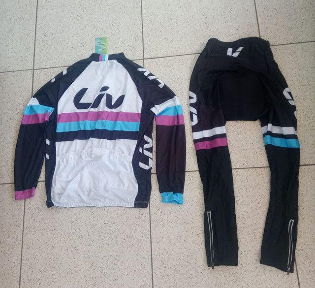 Roupa pra ciclismo feminina novas M e G - Foto 3
