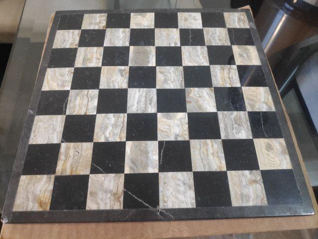 Jogo de xadrez em pedra artesanal Made in México  - Foto 4
