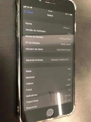 iPhone 8 Plus 64gb Cinza Espacial+ Airdrop  - Foto 5