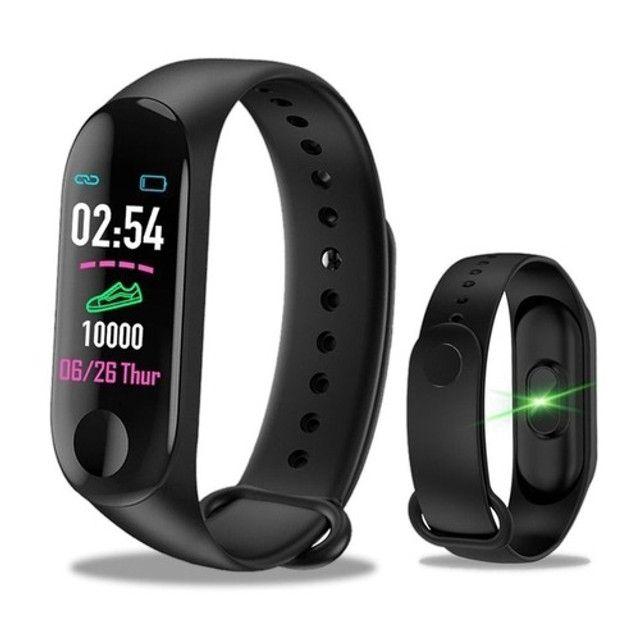 Relógio Inteligente Smartband M3 Monitor Cardíaco Pressão - Foto 4