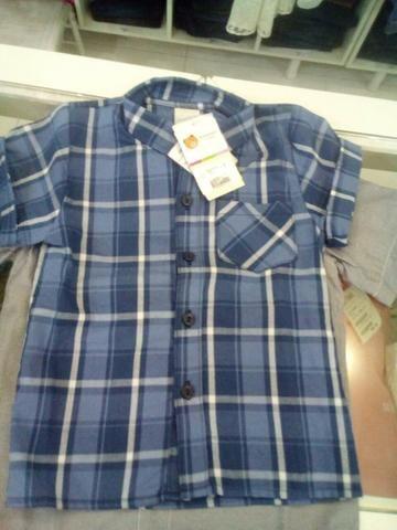 Blusa xadres infantil