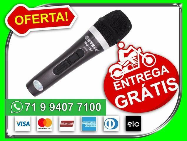 Microfone com fio WG 198 -Novo- Entrega Grátis