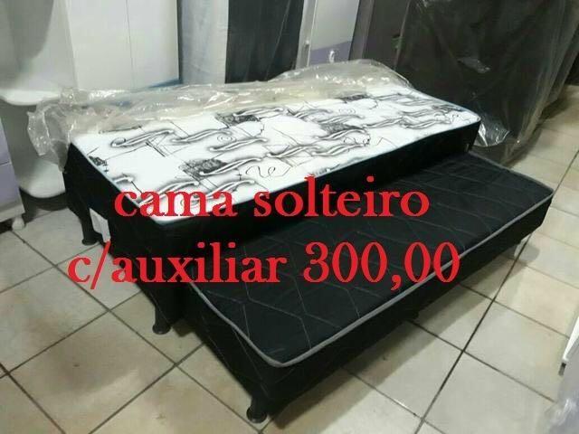 Estou vendendo Cama box de solteiro c/ auxiliar de varios modelos e super confortaveis