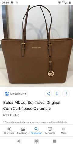 fa5252b90 Bolsa Michael Kors Jet Set Couro Saffiano - Bolsas, malas e mochilas ...