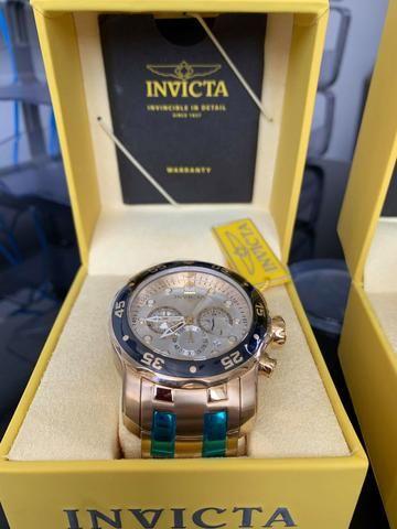 e337c76498825 Relógio Invicta Pro Diver 80067 - Banhado a Ouro 18K - Original ...