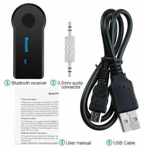 Adaptador Bluetooth Transmissor Conexão Auxiliar Mp3 Audio - Foto 2