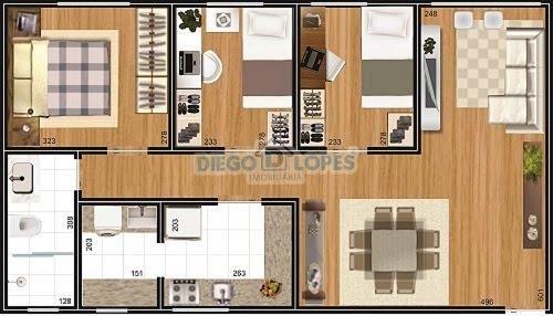 Apartamento à venda com 3 dormitórios em Cidade industrial, Curitiba cod:937 - Foto 5