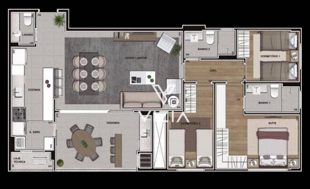 Apartamento à venda, 112 m² por R$ 936.239,00 - Cabral - Curitiba/PR - Foto 16