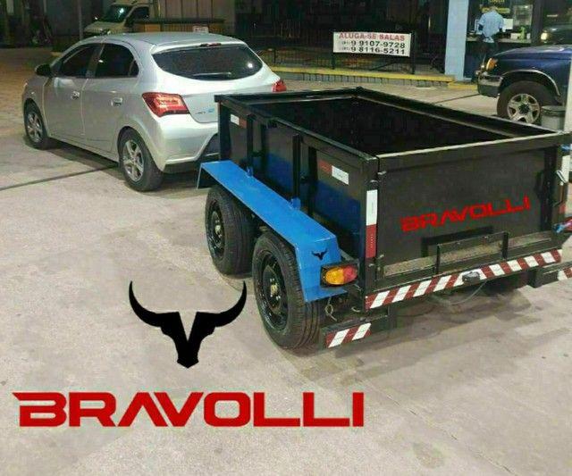 Carretinha BRAVOLLI ' MG - Reboque de alta performance com 3 anos de garantia Brasil  - Foto 2