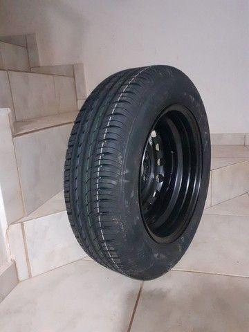 Pneu + roda Continental aro 14