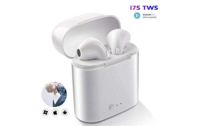 Fone Sem Fio Airbud I7S Bluetooth TWS 3-4 Horas de Música - Foto 2