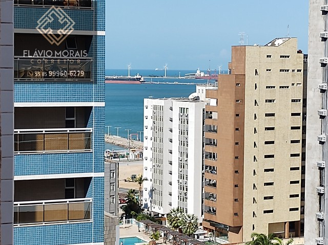 Apartamento 118 metros com vista mar no Meireles - Fortaleza - Ceará.
