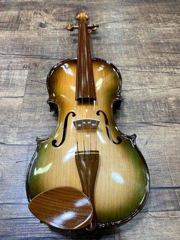 Violino 4/4 Rolim premium Serie limitada madeira Araucaria Sombrear Brilho Orquestra Ccb - Foto 6