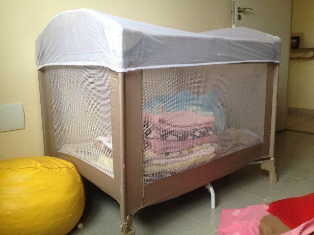 IMPERDÍVEL Berço camping Burigotto + colchãozinho e acessórios