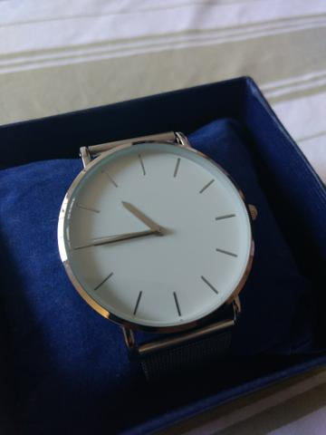 Relógio Prata - Novo