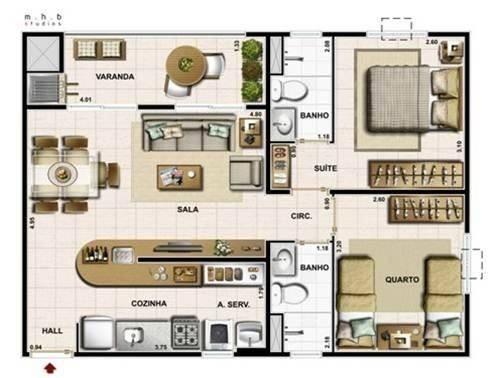 GM - Apartamento Rossi Praças Reserva 2 Quartos com suite -ES - Foto 5