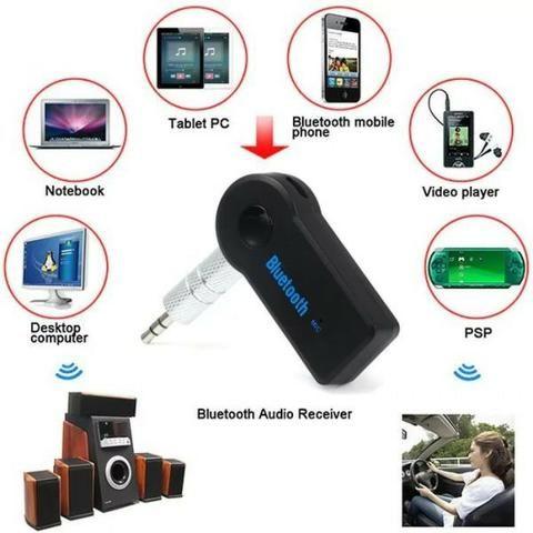 Adaptador Bluetooth Transmissor Conexão Auxiliar Mp3 Audio