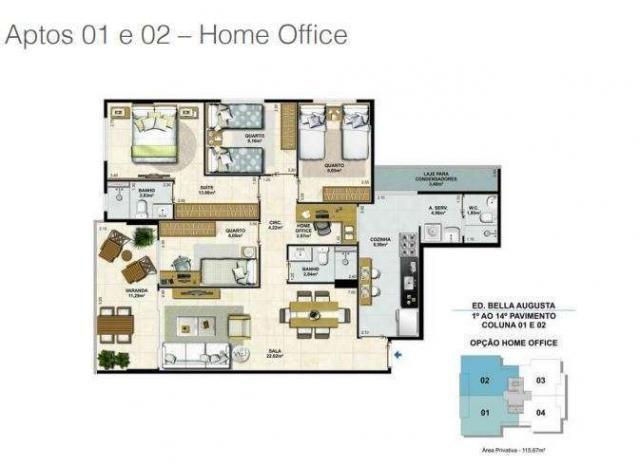 Bella Augusta Residence - Apartamento de 3 ou 4 quartos com suíte - Cariacica, ES - Foto 20