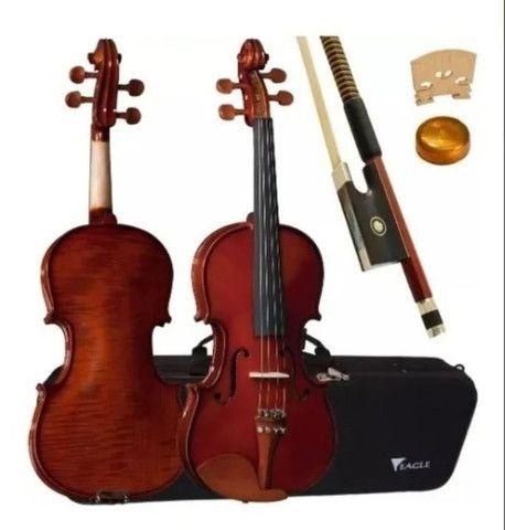 Violino Eagle Ve 431 3/4 Completo Com Case + Breu + Arco