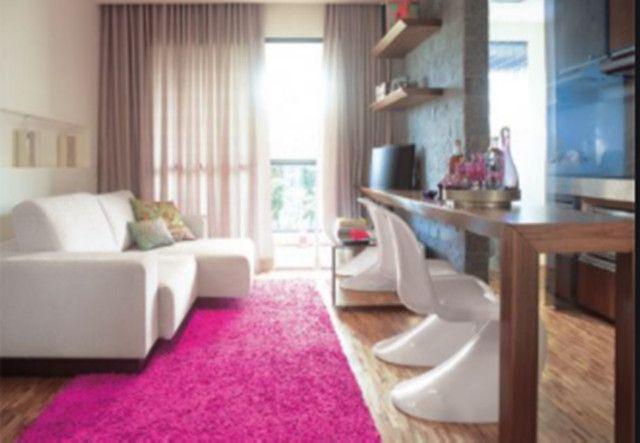 Tapete rosa para sala, 2x1.40 cm , super macio - Foto 6