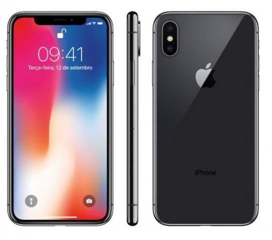 Apple iphone x 256gb space gray melhor preço temos parcelado