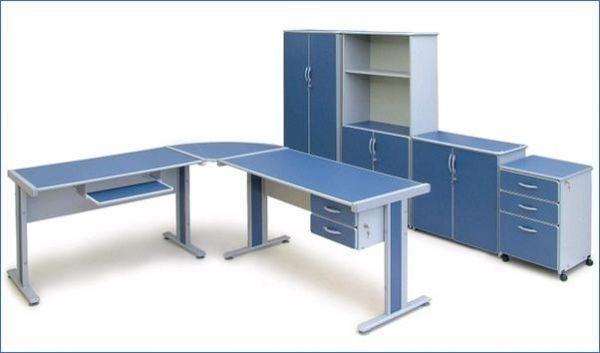 Mesa de escritório duas gavetas 1,20m x 60