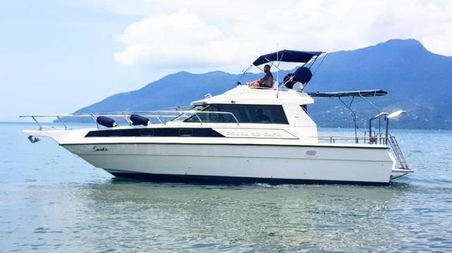 Lancha obra Capri 32 Fly - Barco de represa! Oportunidade única!! - Foto 4