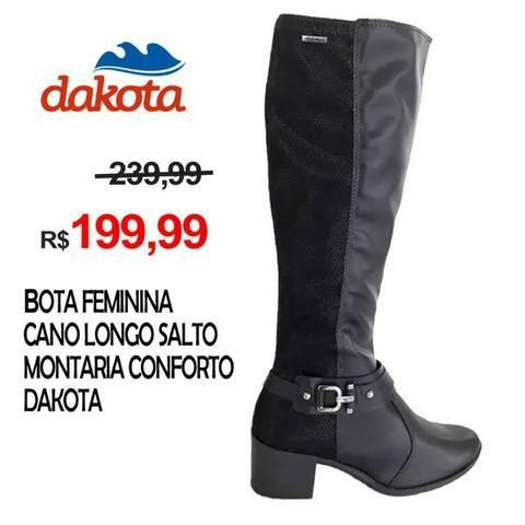 814d91400d Bota Feminina Cano Longo Salto Montaria Conforto Dakota - São Paulo / SP