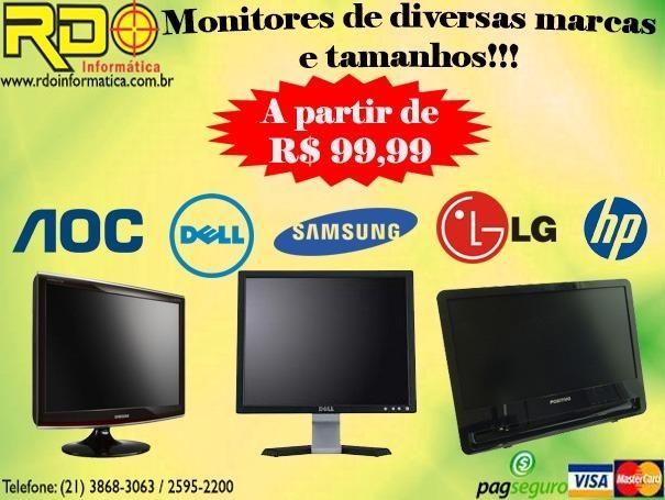 Monitores 19'' Diversas Marcas LG, Samsung, AOC, Dell, Lenovo, HP