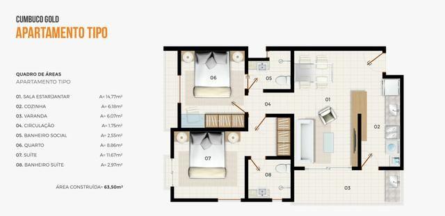 Apartamento mobiliado completo 2 quartos vista mar 100 mt do centro do cumbuco ce brasil - Foto 16