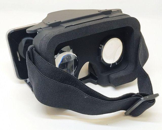 Oculos Realidade Virtual 3D VR X Dobrável c/ Controle Bluetooth Oferta - Foto 3