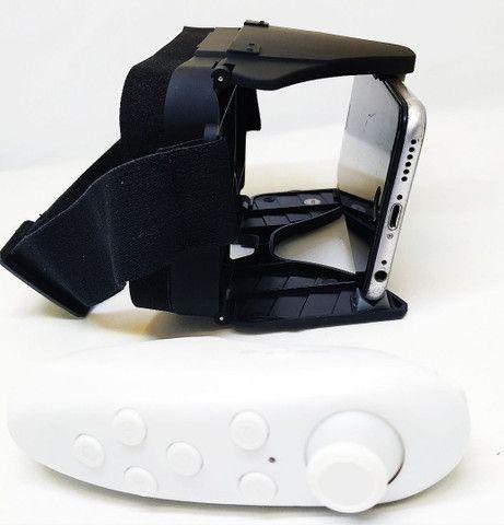 Oculos Realidade Virtual 3D VR X Dobrável c/ Controle Bluetooth Oferta - Foto 2