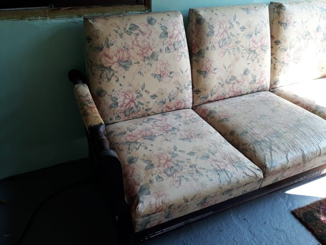 Antiguidade - Sofá de 3 lugares - Foto 2