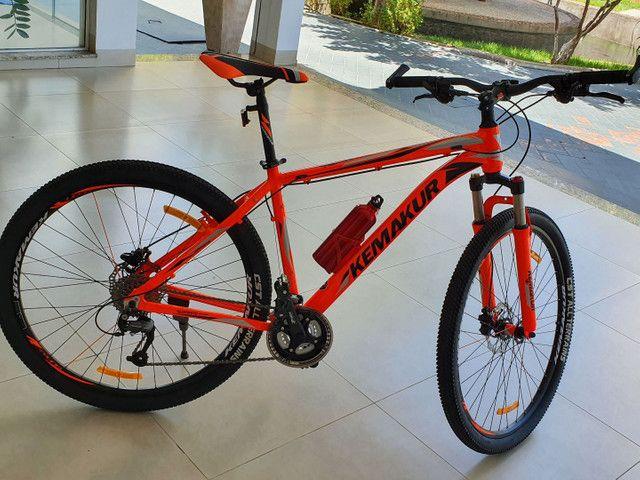 Bicicleta Kemakur na cor laranja, marca italiana, bike Nova, nunca usada - Foto 4