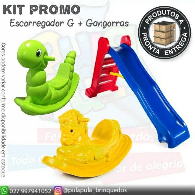 KIT de brinquedos para playground e área Kids - Escorregador E Gangorra  - Foto 3
