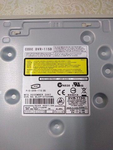 Gravador de cds e dvds Pioneer conexão ide modelo dvr 110 dvr 115 dvr 116 - Foto 4