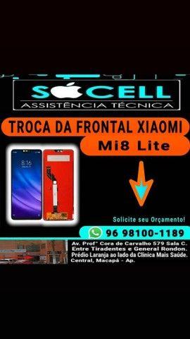 Troca da Frontal Xiaomi Mi8 Lite (SÓCELL)