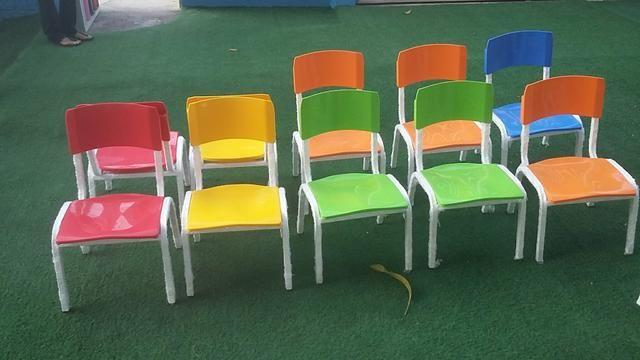 Cadeiras escolar polipropileno , conjuntos pré escolar * zap - Foto 4