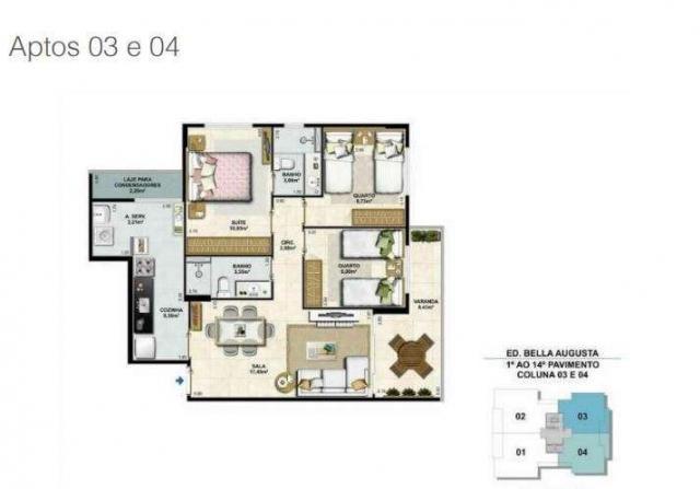 Bella Augusta Residence - Apartamento de 3 ou 4 quartos com suíte - Cariacica, ES - Foto 19