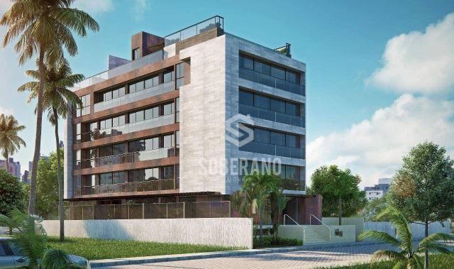 Apartamento com 1 dormitório à venda, 39 m² por R$ 240.000 - Intermares - Cabedelo/PB - Foto 2